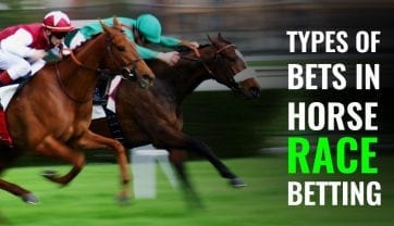What types of bets are there in horse racing?